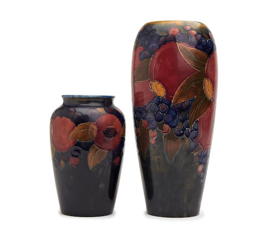 Pomegranate baluster vase together with another smaller (2)