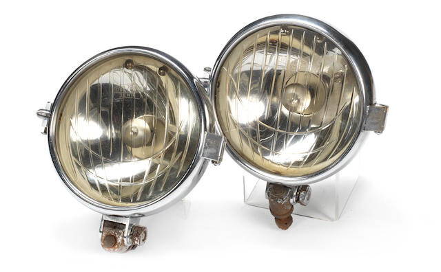 A fine pair of Carl Zeiss Jena headlamps,