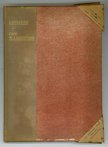 GREGYNOG PRESS - GRUFFYDD (W.J.) Caniadau, 1932