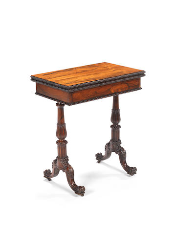 A George IV rosewood card table possibly by Gillows