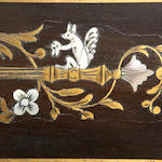 A near pair of Napoleon III ormolu mounted etched ivory, mother-of-pearl, abalone and brass 'boulle' marquetry ebony and ebonised bonheur du jours