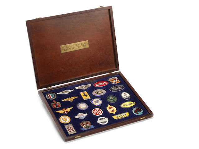 A cased display set of 'Badges of the World's Great Motor Cars',
