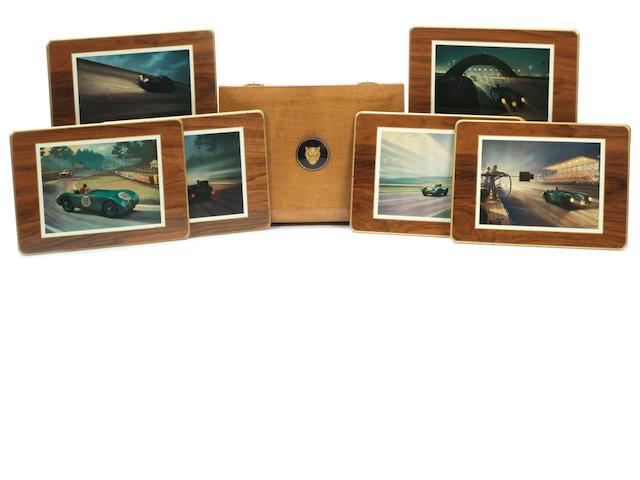 A full set of six Jaguar placemats,