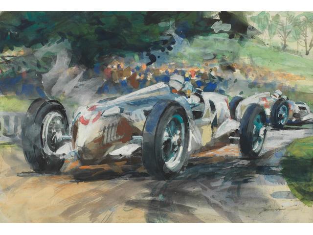 Walter Gotschke (1912-2000); 'Donington Grand Prix 1937',