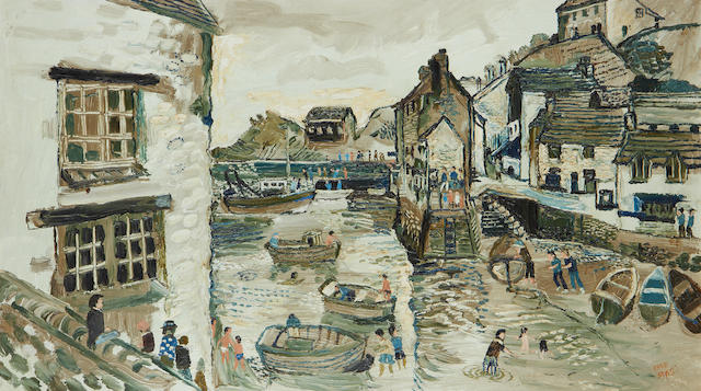Fred Yates (British, 1922-2008) Scarborough harbour