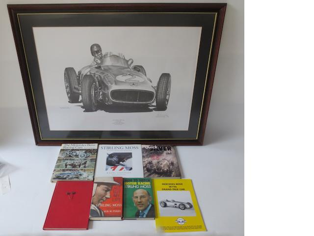 A 'Juan Manuel Fangio' limited edition print after Alan Stammers,