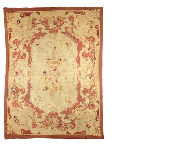 A large late 19th century Aubusson carpet, France, 510cm x 396cm
