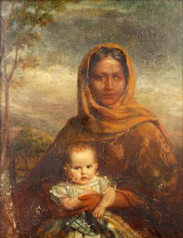 John Irvine (British, 1805-1888) Ayah and Child