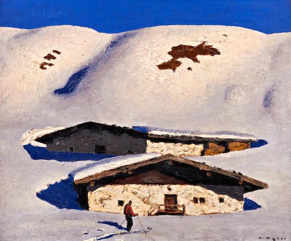 Alfons Walde (Austrian, 1891-1958) Almen im März