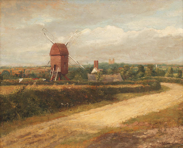 Circle of John Constable, R.A. (Suffolk 1776-1837 Hampstead) A windmill, said to be near Colchester