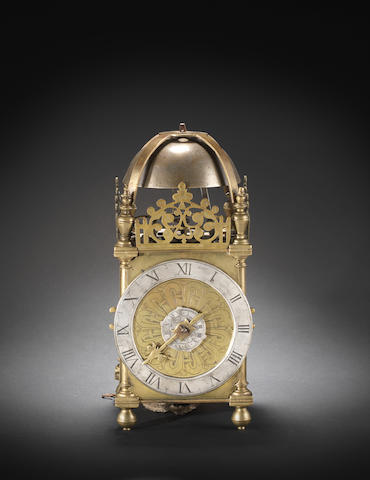 A rare early 17th century lantern clock Unsigned