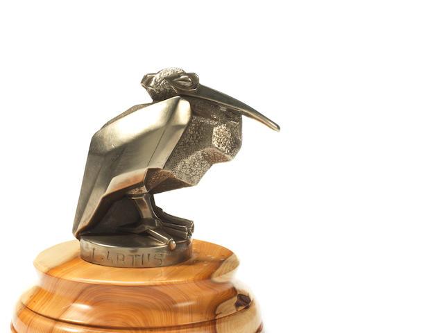 A 'Pelican' mascot, by L Artus, circa 1930,