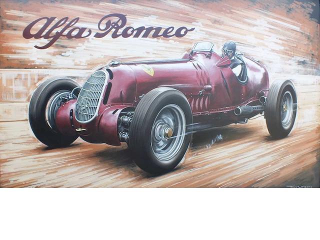Tony Upson, 'Alfa Romeo Tipo C',