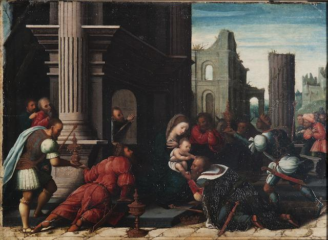 Workshop of Bernaert van Orley (Brussels 1488-1541) The Adoration of the Magi