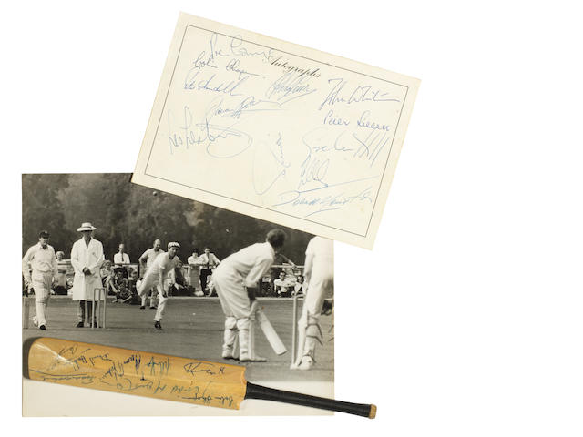 A collection of F1 autographs collected at the charity cricket match between the Grand Prix Drivers XI v Lord Brabourne's XI, 28 August 1966,