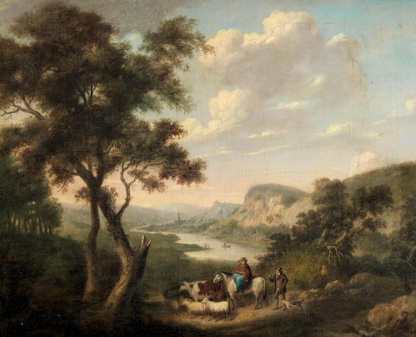 English School, 18th Century A river landscape - possibly Matlock