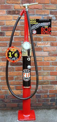 An early Avery Hardoll model CH1 hand cranked one gallon petrol pump, patented 1928,