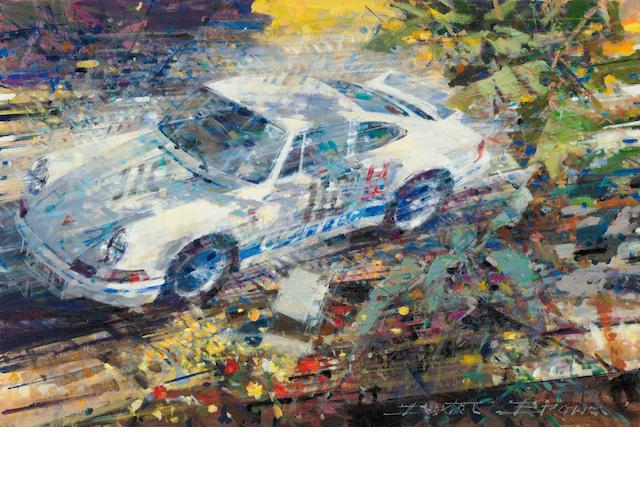 '50 years of an Icon: The Porsche 911', signed limited edition print after Dexter Brown,
