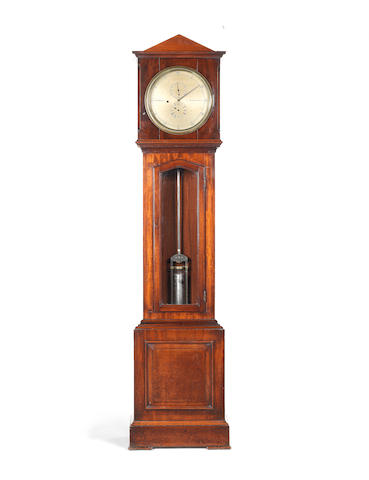 A 19th century mahogany floorstanding regulator W.D. Cooper, 235 Brompton Road SW