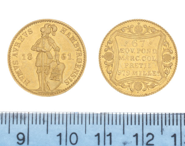 Germany, Hamburg,  Gold Ducat, 1861 (KM#274).