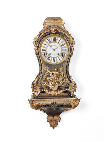 A mid 18th century French boulle bracket clock J.F. Dominicé, Paris