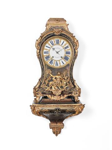 A mid 18th century French boulle bracket clock J.F. Dominicé, Paris