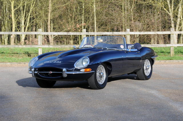 1962 Jaguar E-Type Series I 3.8-Litre Roadster  Chassis no. 850565 Engine no. RJ9059