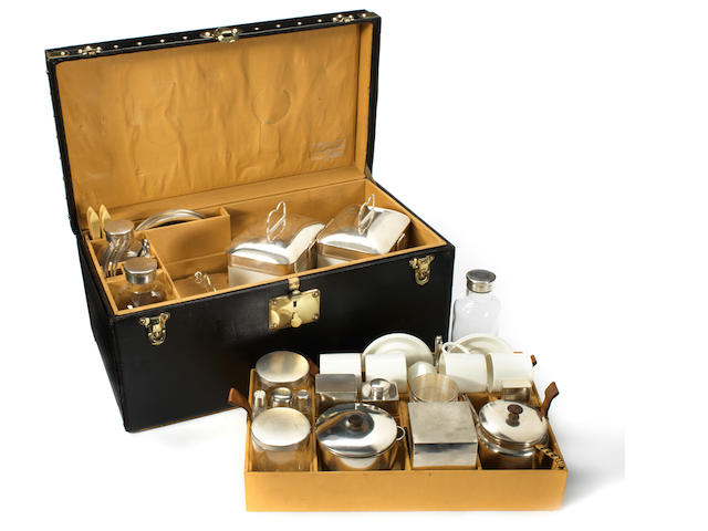 An extremely fine specially commissioned picnic and tea-set for four persons, by Louis Vuitton, circa 1906,