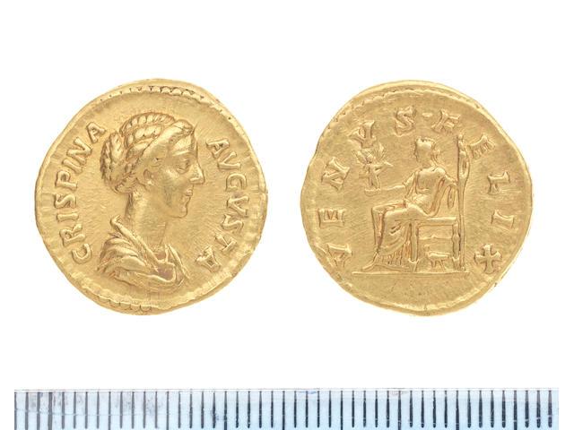 A Crispina Augusta gold Aureus