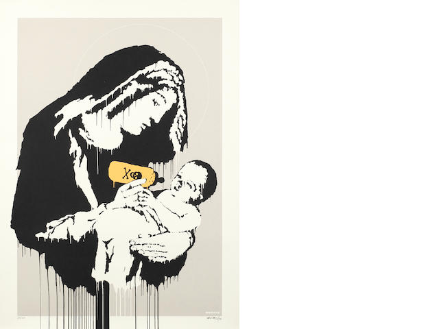 Banksy (British, born 1975) Toxic Mary Screenprint in colours, 2003, on wove, signed, dated and numbered 26/150 in pencil, published by Pictures On Walls, London, with their blindstamp, with full margins, 700 x 495mm (27 1/2 x 19 1/2in) (SH)