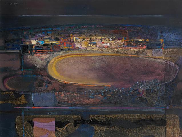 Michael Ayrton (British, 1921-1975) Sombre Landscape 76.2 x 101.6 cm. (30 x 40 in.)