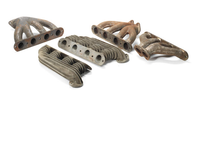 Assorted Alfa Romeo 8C 2300 manifolds,