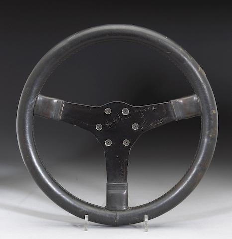 "A 'Steve McQueen' Porsche 917 steering wheel from the film ""Le Mans"","