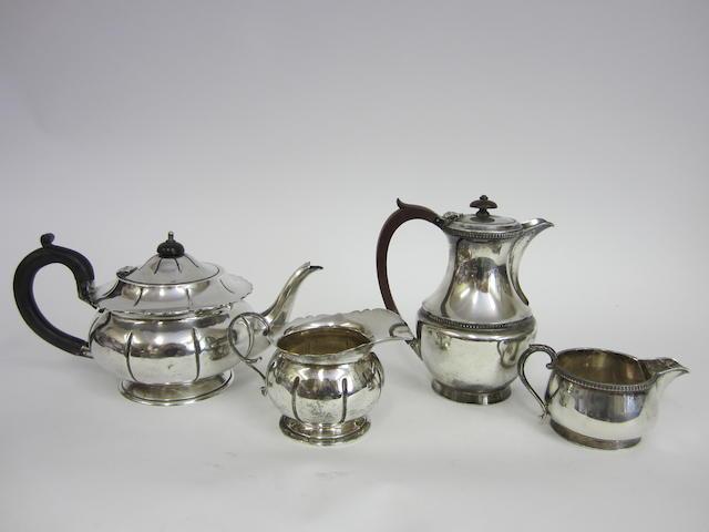A silver teapot London 1929  (4)