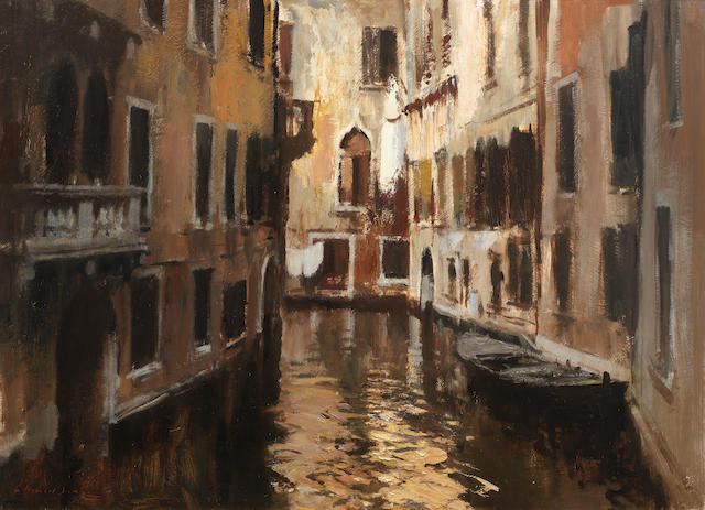 Edward Seago R.W.S. (British, 1910-1974) A Venetian Backwater 66 x 91.4 cm. (26 x 36 in.)