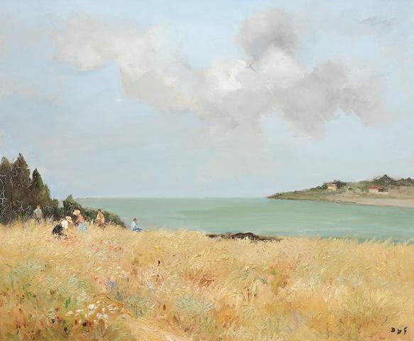 Marcel Dyf (1899-1985) Cueillette des fleurs en Bretagne