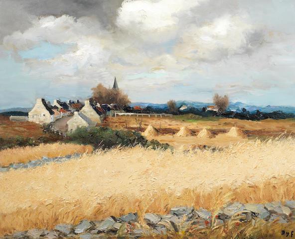 Marcel Dyf (1899-1985) Moisson en Bretagne