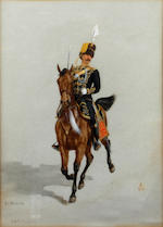 Richard Caton Woodville II (British, 1856-1926) Ten regimental equestrian studies