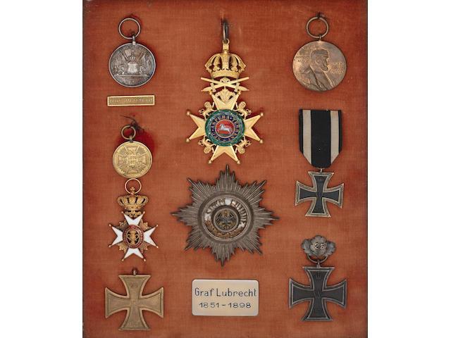 The Orders, Decorations and Medals to Moritz C.K.Lubbrecht Graf von Schlitz,