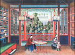 A pair of Chinese school paintings 19th century