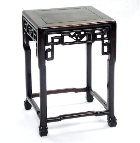 A hardwood square table Qing
