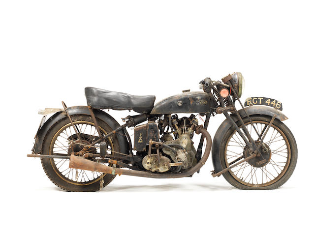 One owner for 60-plus years,1938 Vincent-HRD 498cc Series-A Meteor Project Frame no. D1554 Engine no. M629
