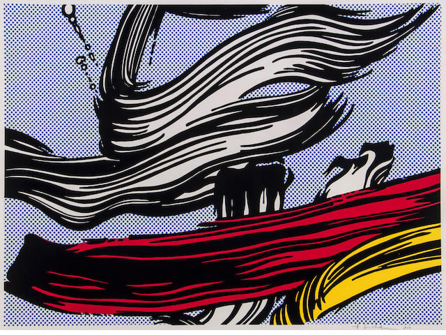 Roy Lichtenstein (American, 1923-1997) Brushstrokes (Corlett 45) Screenprint in colours, 1967, on wove, signed and inscribed 'AP' in pencil, an artist's proof aside from the edition of 300, printed by Aetna Silkscreen Products, New York, published by the Leo Castelli Gallery, for the Pasadena Art Museum, California, with margins, 555 x 765mm (21 3/4 x 30in) (I)