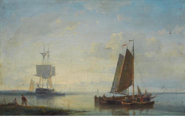 Abraham Hulk, Snr (Dutch, 1813-1897) Hauling the nets