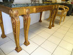 A Regency gilt gesso console table