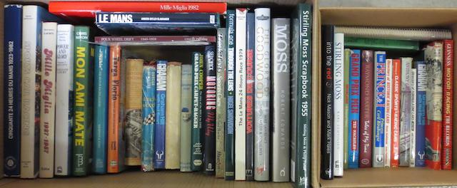 Assorted motorsport and racing driver books,