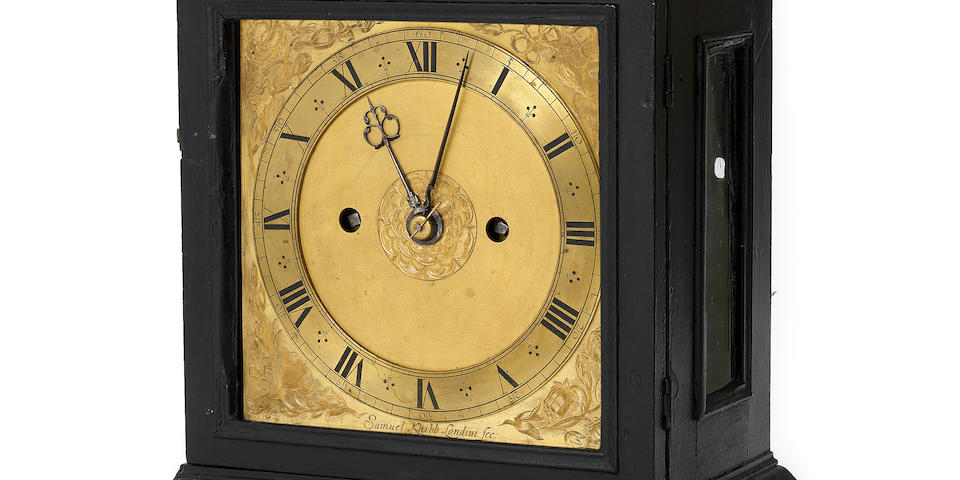 A very rare third quarter of the 17th century architectural ebony table clock Samuel Knibb, London