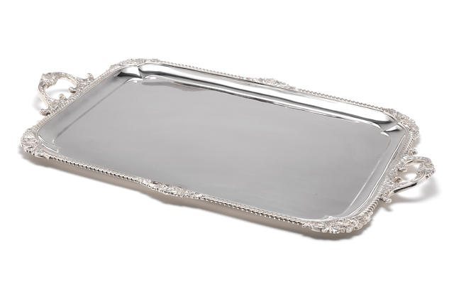 A Victorian silver two-handled tray by Elkington & Co Ltd, London 1893,