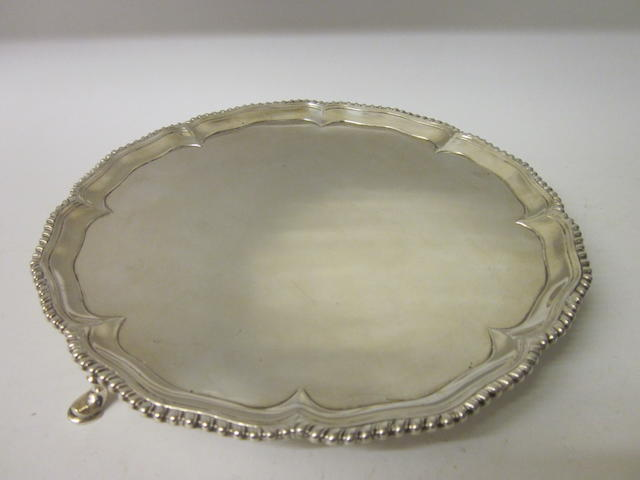 A George III silver salver London 1764