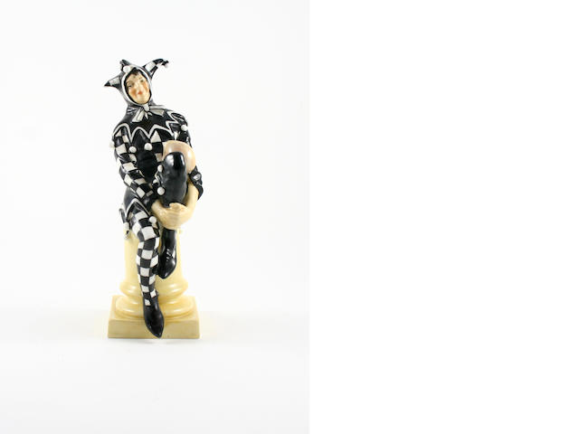 A Doulton Burslem figure 'The Jester' by Charles Noke